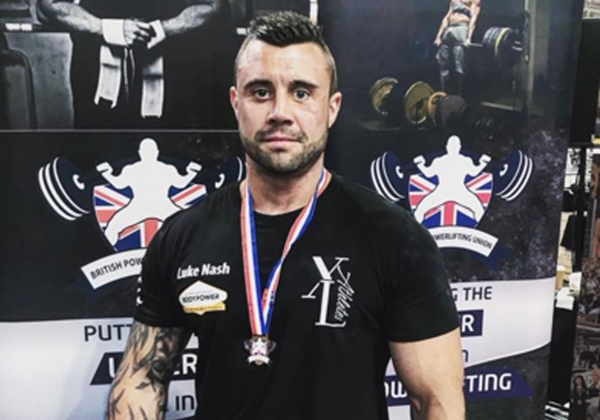 Luke Nash British powerlifter - sponsored by Ideal CBD